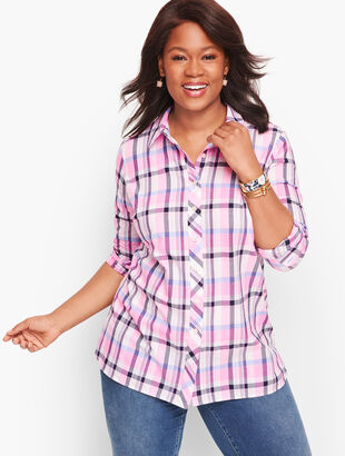Classic Cotton Shirt - Serenity Plaid