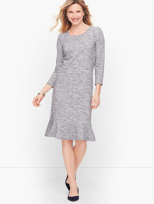 Terry Flounce Hem Shift Dress