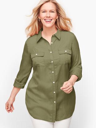 Tencel Button Front Shirt