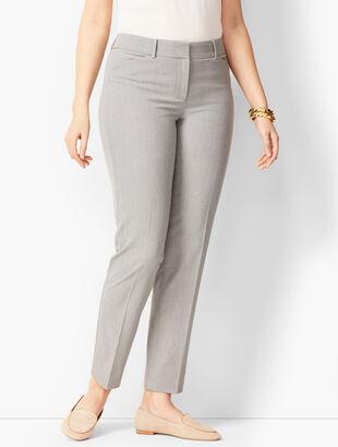 Talbots Hampshire Ankle Pants - Curvy Fit - Diamond Grey Chambray