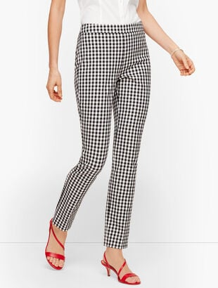 Talbots Chatham Ankle Pants - Springtime Gingham