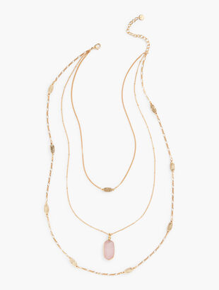 Delicate Triple-Strand Layering Necklace