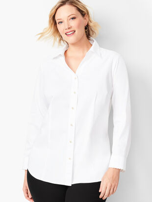 RSVP Scallop Button-Front Shirt