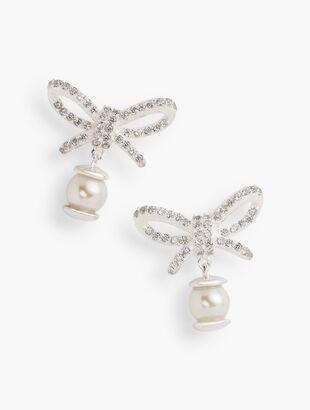 Sterling Silver Bow Drop Earrings
