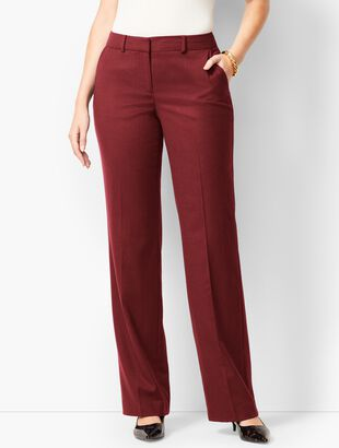 Luxe Italian Flannel Windsor Pants - Curvy Fit