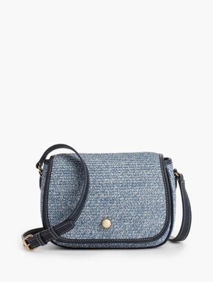 Packable Paper-Straw Crossbody Bag