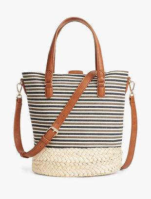 Corded Stripe Bucket Bag