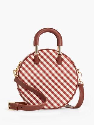 Gingham Round Handbag