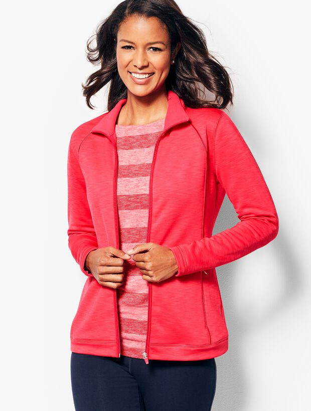 Fleece-Lined Piped Jacket