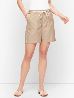 Summer Twill Pull-On Shorts - 6""