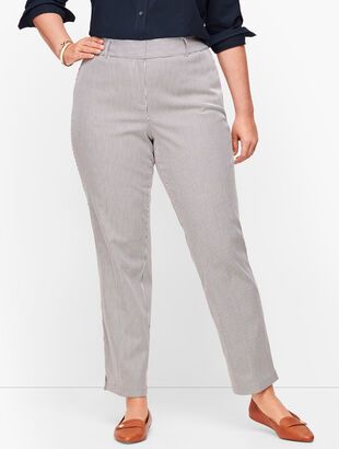 Plus Size-Talbots Hampshire Ankle Pants - Teatime Stripe