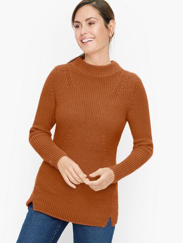 Cotton Mockneck Pullover