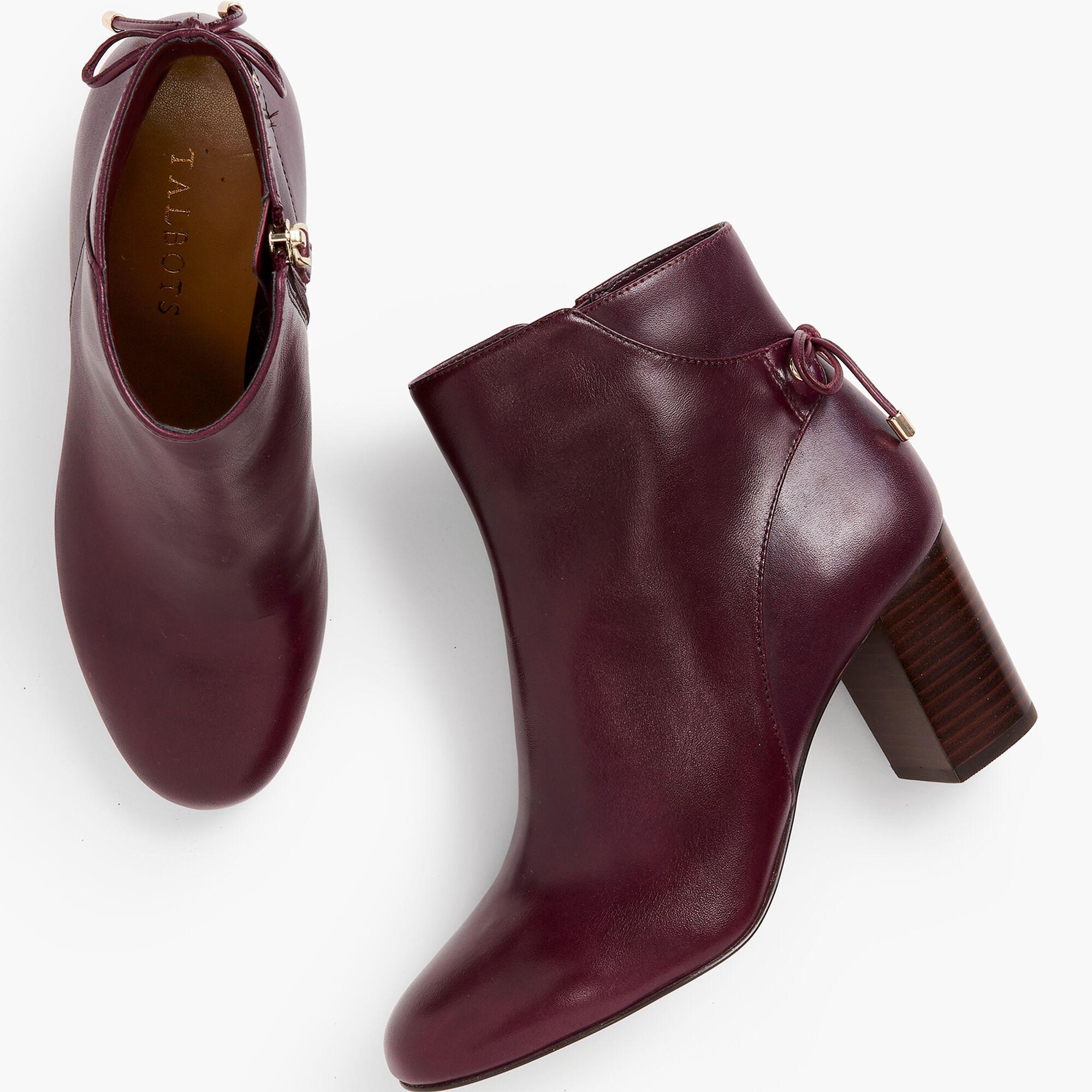 d25942f2cb0 Lilia Block-Heel Ankle Boots