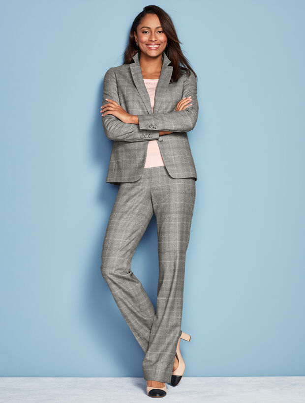 Luxe Plaid Trouser