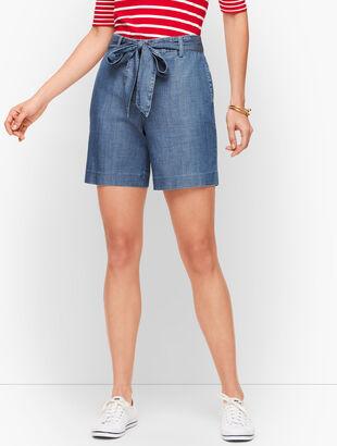 Tie Waist Shorts - Tencel Blend