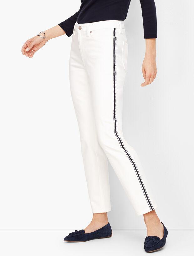 Modern Ankle Jean - White