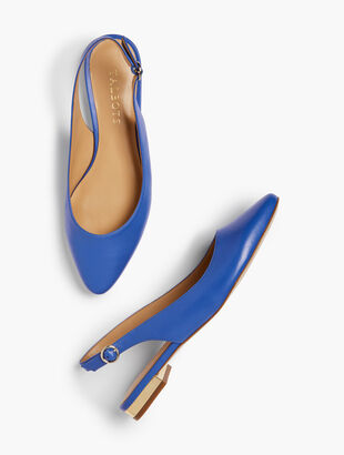 Edison Slingback Flats - Nappa Leather
