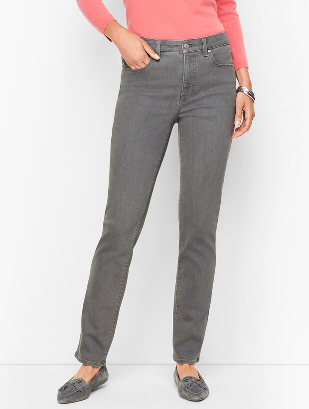 Straight Leg Jeans - Deep Grey