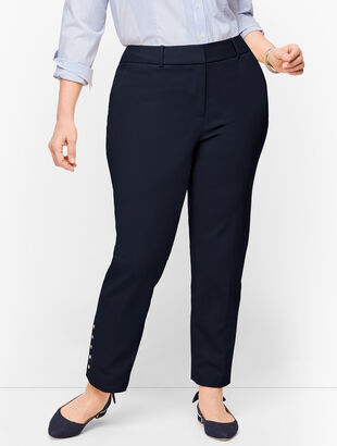 Plus Size Talbots Hampshire Ankle Pants - Button Hem - Curvy Fit