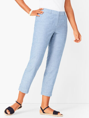 Perfect Crops - Curvy Fit- Chambray