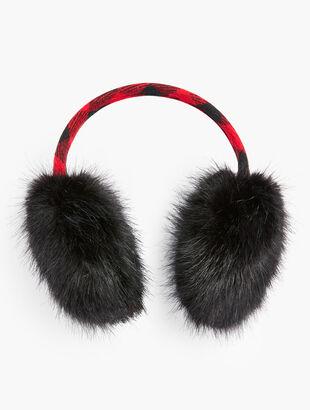Buffalo Check Earmuffs