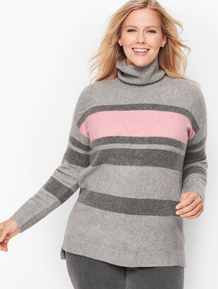 Fireside Stripe Turtleneck Sweater - Heathered