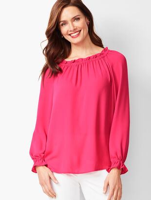 Smocked Blouse - Solid