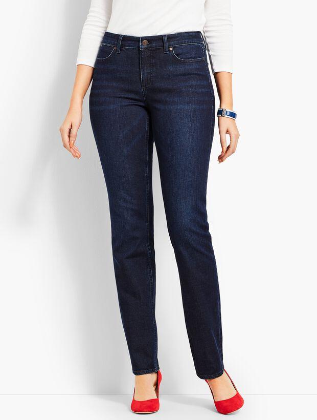 Denim Straight Leg-Curvy Fit/Empire Blue Wash