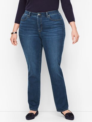 Plus Size Exclusive Straight Leg Jeans - Curvy Fit - Park Wash