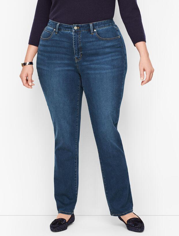 Plus Size Straight Leg Jeans - Curvy Fit - Park Wash