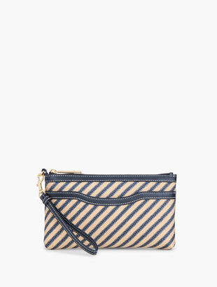 LUREX® Stripe Zip-Top Wristlet