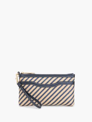 LUREX(R) Stripe Zip-Top Wristlet