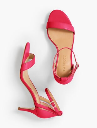 Rosalie Ankle-Strap Sandals - Nappa Leather