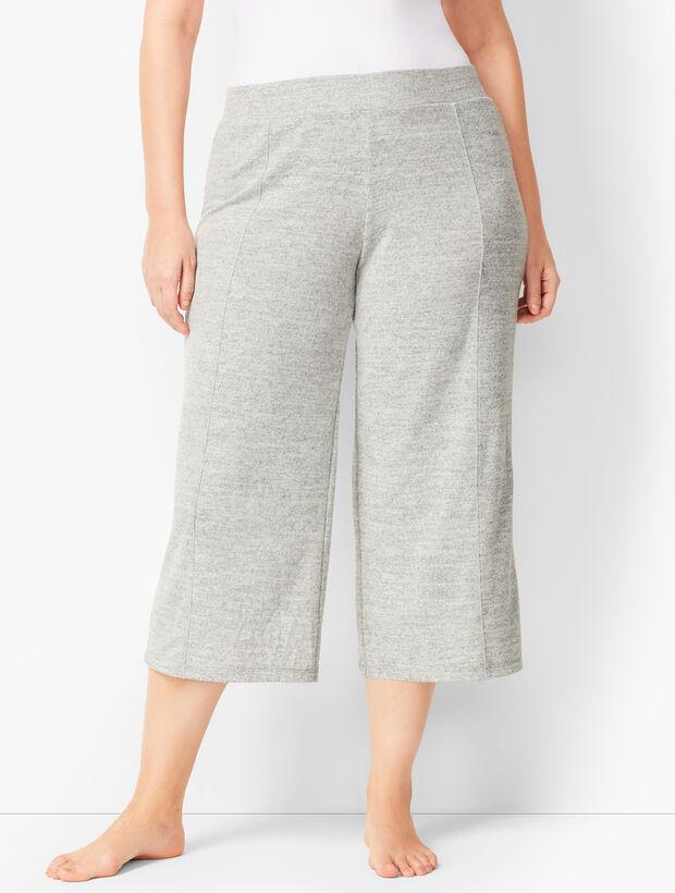Brushed Mélange Culotte Pants