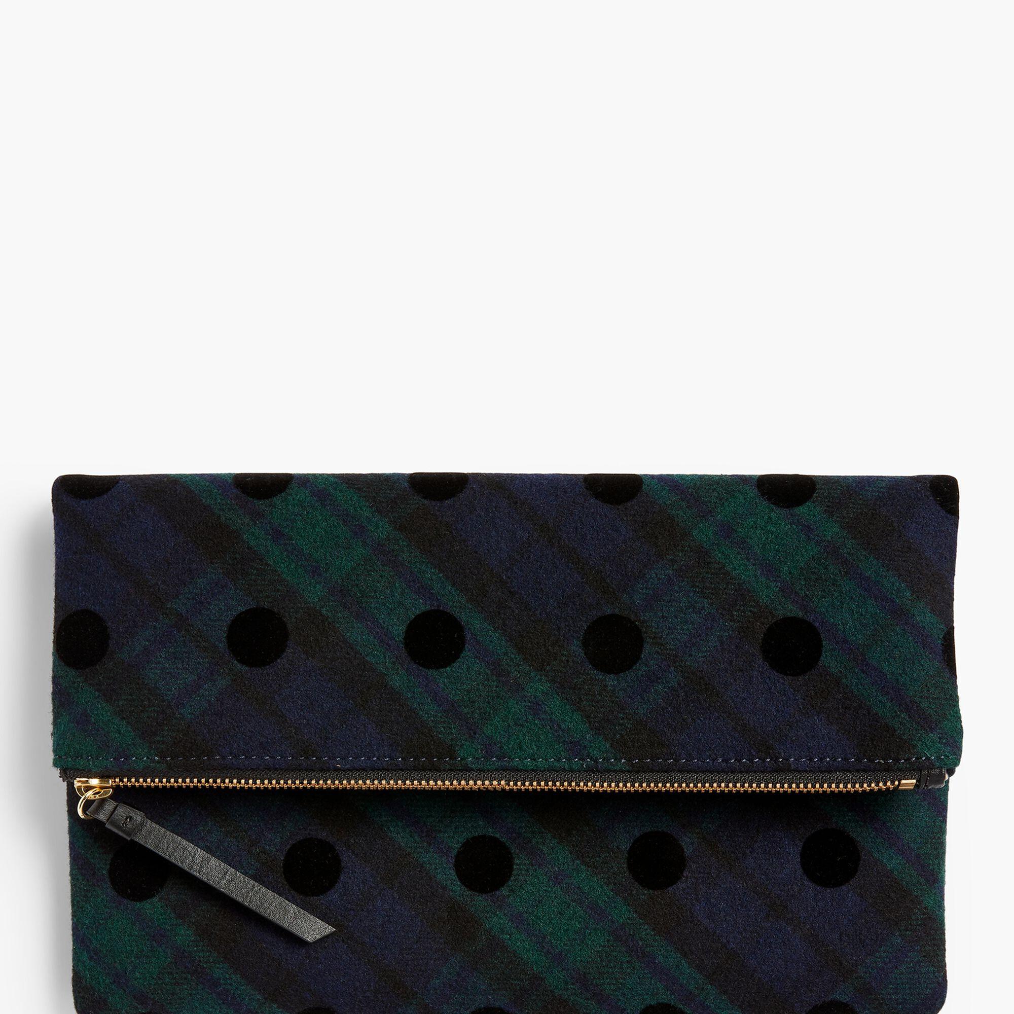 f9643241710a Foldover Handbag - Black Watch Plaid