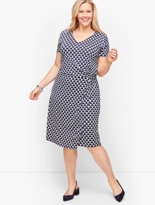 Twist Front Jersey Sheath Dress