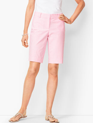 Perfect Shorts - Bermuda Length - Montauk Gingham