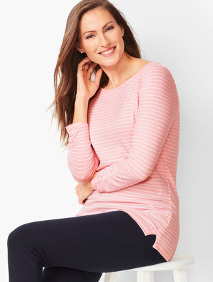 Three-Quarter Sleeve Tees - Bi-Color Stripe