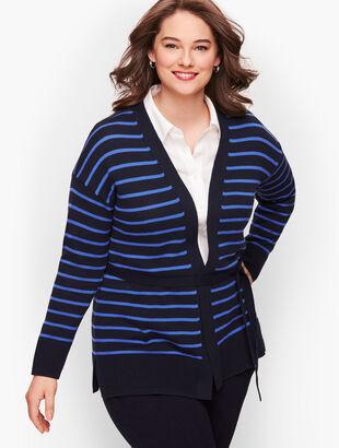 Stripe Belted Cardigan