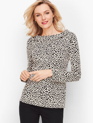 Sabrina Jacquard Animal Print Top