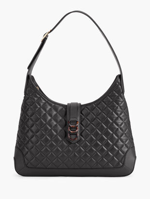 Quilted Nappa Leather Hobo Bag