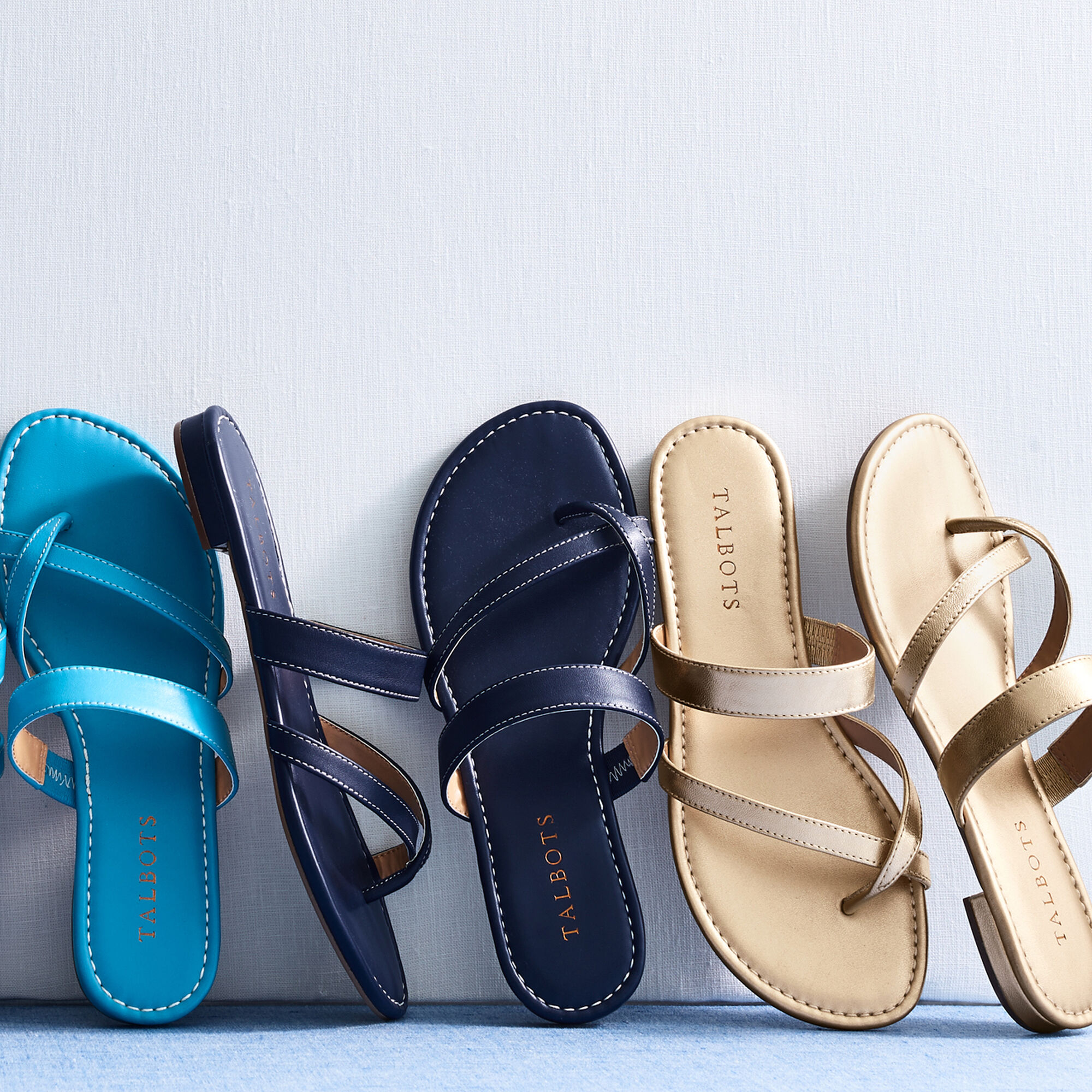 4c9e7d8af Gia Toe-Ring Sandals - Metallic Nappa Opens a New Window.