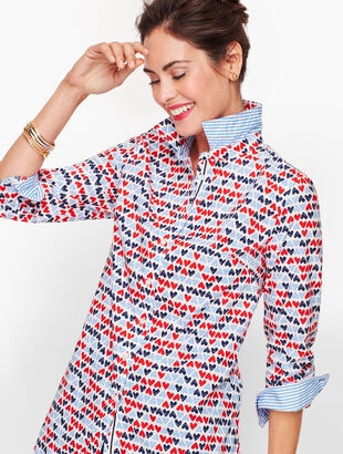 Classic Cotton Shirt - Hearts