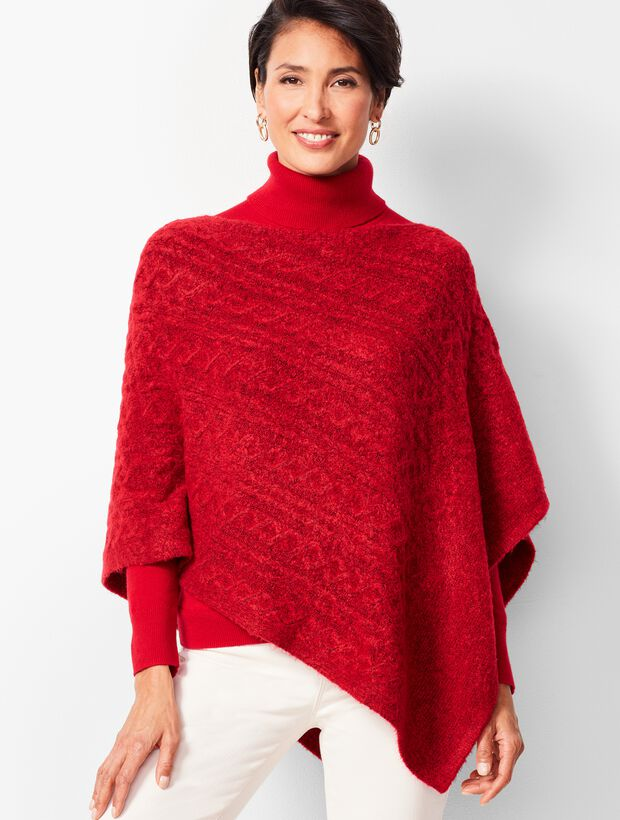 Cable Asymmetric Poncho