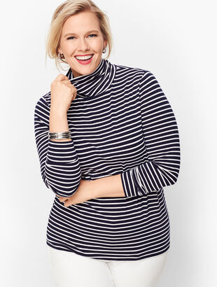 Long Sleeve Turtleneck Sweater - Bergen Stripe