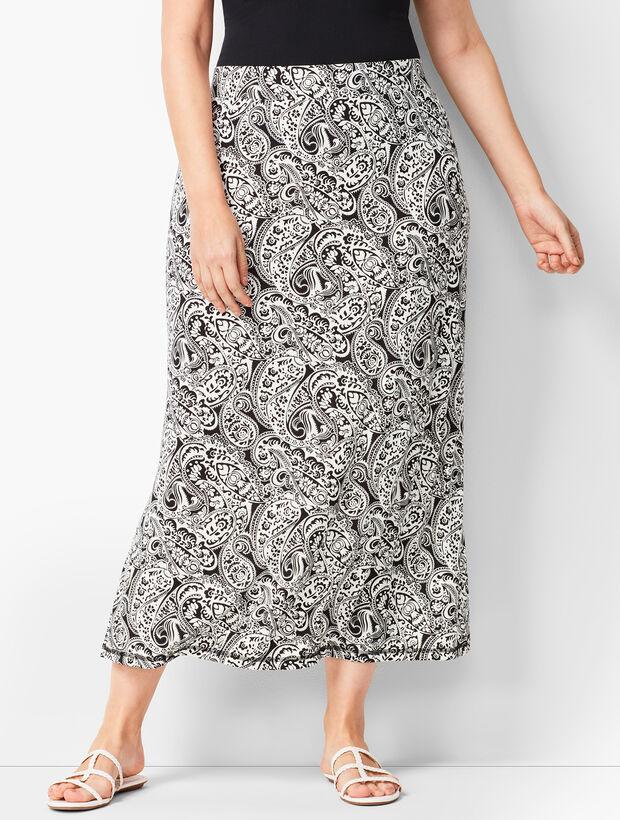 dc7743eeb9e1 Plus-Size Knit Jersey Maxi Skirt - Paisley   Talbots