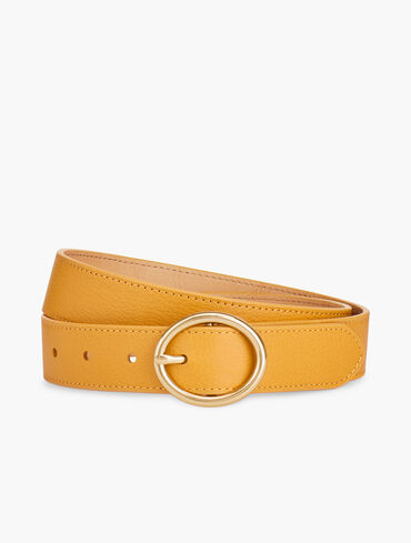 Soft Pebbled Leather Belt