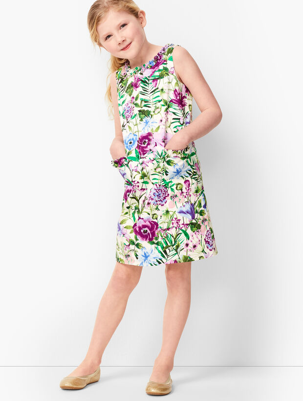 Girls Garden Sheath Dress