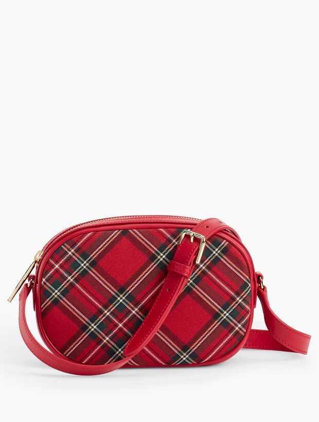 Quilted Flannel Crossbody Satchel - Tartan Plaid