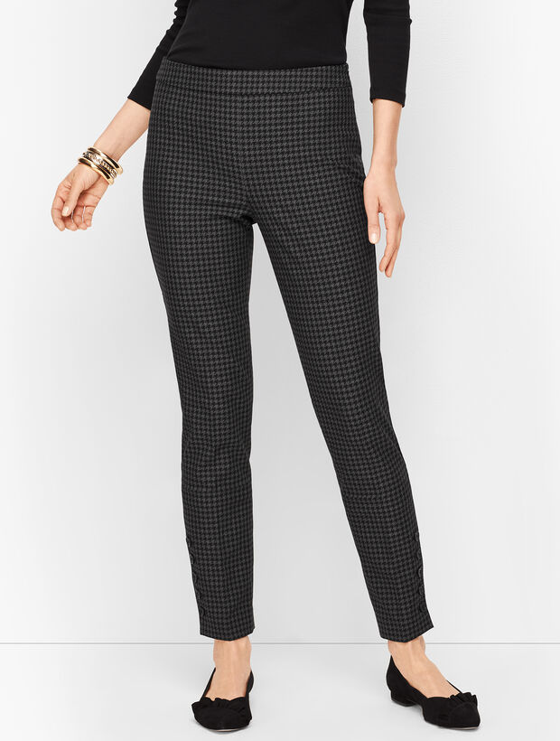 Talbots Chatham Button-Hem Ankle Pants - Houndstooth